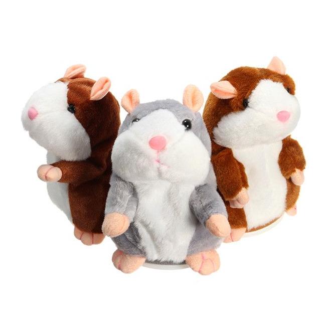 Jucarie Interactiva Plus Copii Repeta ce i se Spune Hamster 15cm