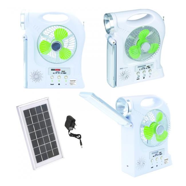 Kit Solar Lampa LED 1W, Neon, Ventilator, Radio, SD si USB YJ5865FSYKT
