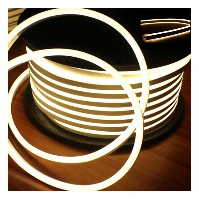 Neon Flex Furtun Luminos Flexibil Rola 100m Alb Cald 2Fete F8050WW
