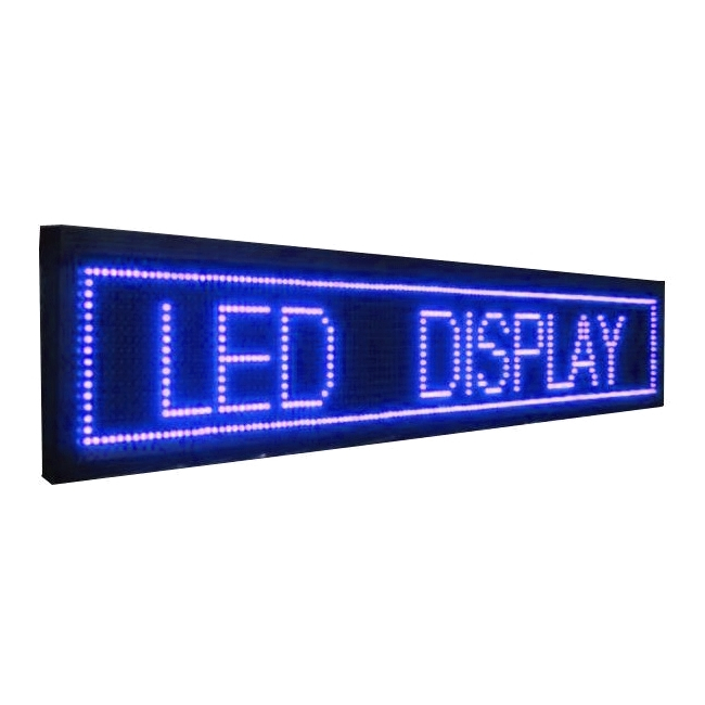 Panou Afisaj Firma Luminoasa Exterior LED Albastre 135x20cm
