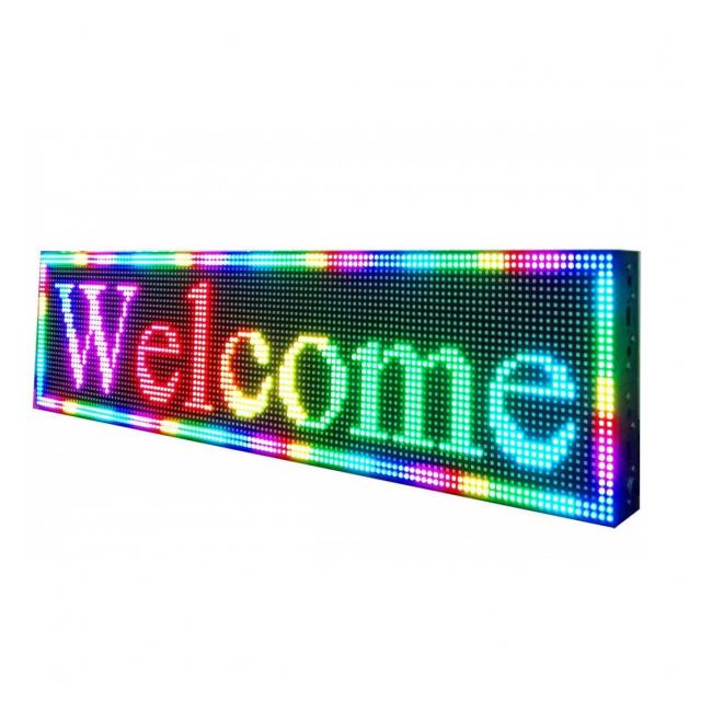 Panou Afisaj Firma Luminoasa Exterior cu LEDuri RGB 100x40cm