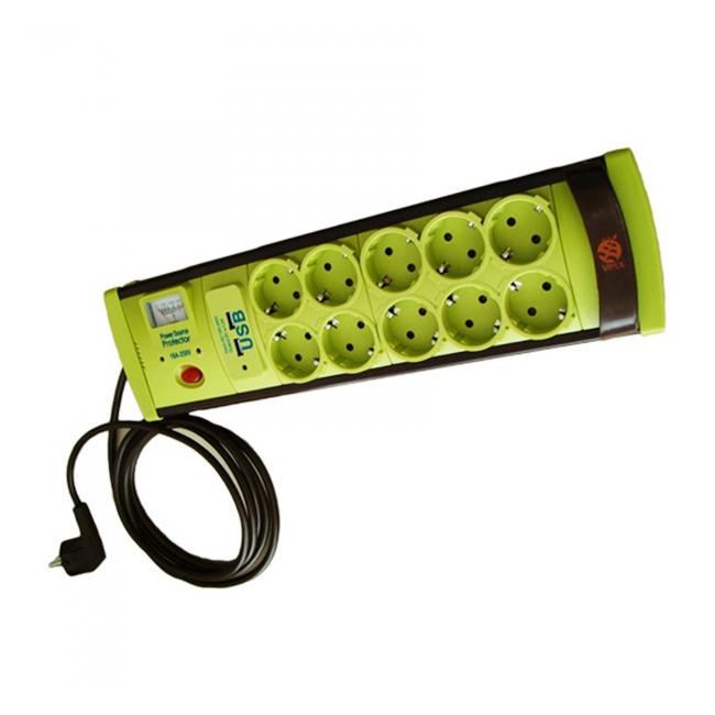Prelungitor cu Protectie 10 Prize si USB, Cablu 3m, 3x1mm Vipex