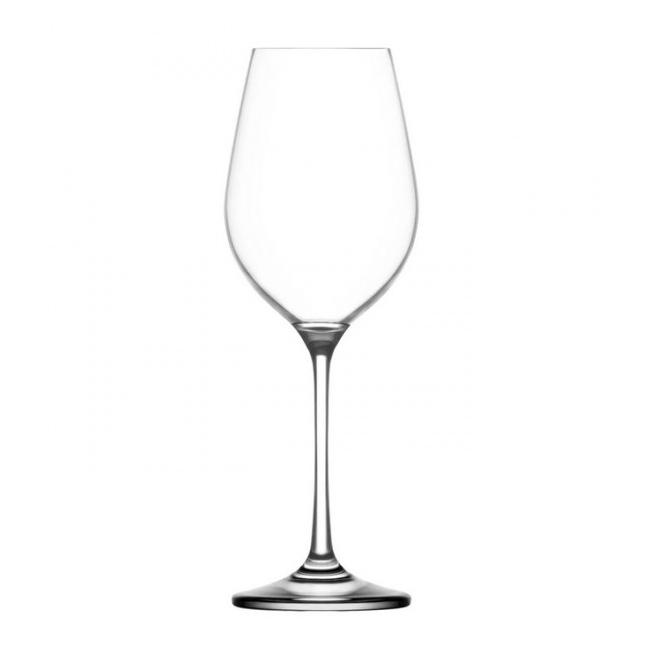 Set 24 Pahare Sticla Cristalina cu picior 250ml Vin alb Gusto LAV 121