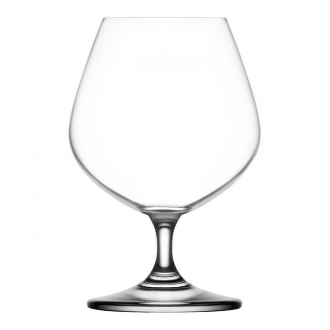 Set 24 Pahare Sticla Cristalina cu picior Coniac 400ml Gusto LAV 162