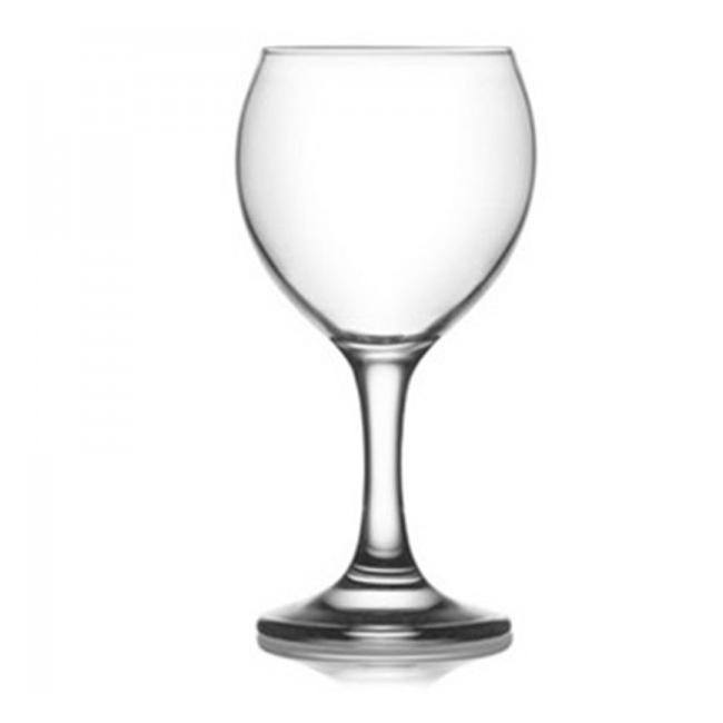 Set 24 Pahare Sticla cu picior 210ml  Vin rosu MISKET 549