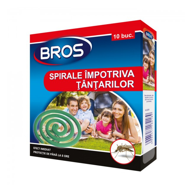 Set 6 Cutii Bros Spirale Fumigene Impotriva Tantarilor 6x10buc DC18620