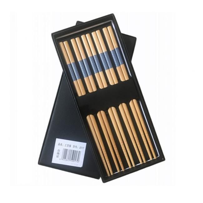 Set Cadou 5 Perechi Betisoare Chinezesti Bambus J017