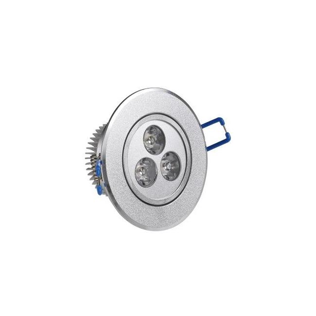 Spot Incastrabil cu 3 LEDuri de 1W Lumina Alba