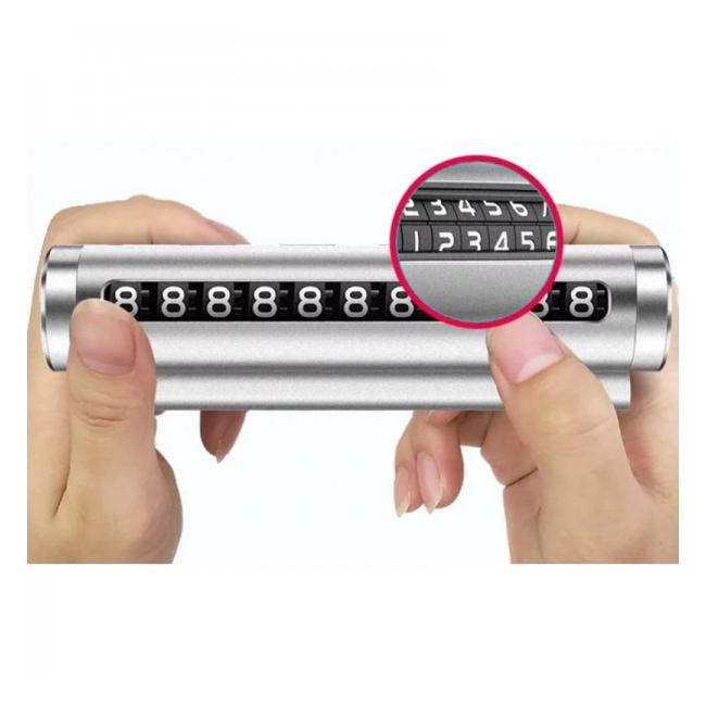 Suport Parbriz Numar Telefon Parcare Reglabil F1902