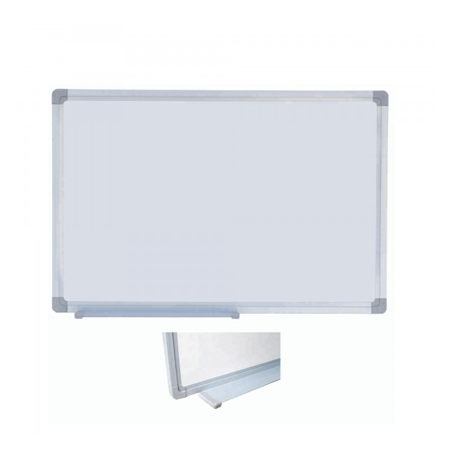 Tabla Magnetica Alba cu Rama Metal si Suport Markere 60x90cm