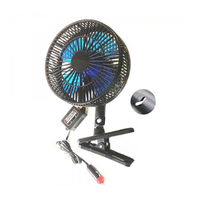 Ventilator Auto Oscilant Rama Plastic On/Off Clema 18cm 12V HJ818