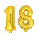 Balon Jumbo Cifra 100cm din folie metalizata Aurie de la 0 la 9