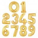 Balon Jumbo Cifra 35cm din folie metalizata Aurie de la 0 la 9