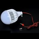 Bec LED 15W 12V Cablu cu Clesti Baterie Auto Glob Mat BEC12V15WF