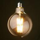 Bec LED Filament 8W Decorativ Edison Vintage Alb Cald E27 G125