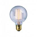Bec LED Filament 8W Decorativ Edison Vintage Alb Cald E27 G80