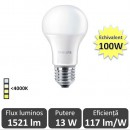 Bec LED Philips A60 13W E27  4000K Lumina Neutra