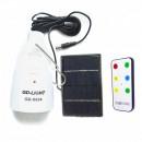 Bec Solar 12LED Alb+RGB cu Acumulator, Telecomanda, USB si 220V GD5024