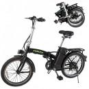 Bicicleta Electrica Pliabila 20 Inch 250W 36V Negru cu Verde Nakto