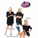Bluza Poncho cu 3 Moduri de Purtat 3 Way Poncho pentru Femei