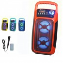 Boxa Portabila cu BT, FM, USB, SD, MIC si Telecomanda Ailiang UF3602DT