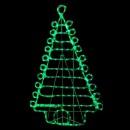 Brad de Craciun Decorativ din Furtun Luminos cu LEDuri Verzi 100cm