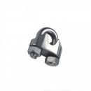 Set 50 Bride metalice cleme de prindere cablu otel 3mm