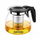 Ceainic cu sita infuzor din Inox si sticla 1100ml Ertone HBH151
