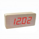 Ceas Digital de Birou Aspect Lemn 220V Data, Ora,Temperatura VST865