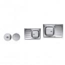 Chiuveta Inox 430 masca anticalcar Sanitec C405 500x800mm