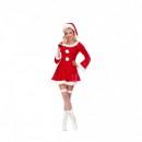 Costum Craciunita tip Catifea pentru Femei ID302