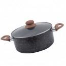 Cratita Otel Carbon cu Ceramica Marmorata 24cm 4.2l Grunberg GR2935