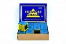 Creta Biliard Triangle Albastra Set 12 buc