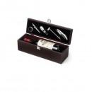 Cutie Cadou din Lemn Pentru Sticla Vin cu 5 Accesorii