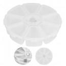 Cutie Depozitare Rotunda din Plastic  8 Compartimente cu Capac ARL P132