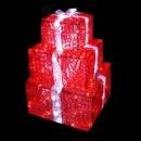 Decoratiune Luminoasa Set 3 Cadouri Craciun Rosii din Acril 220V IP44
