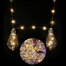 Ghirlanda Luminoasa  Craciun 10 Becuri Decorative Alb Cald 270cm