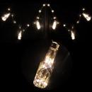 Ghirlanda Luminoasa de Craciun 10 Sticlute Decorative  Alb Cald 270cm