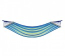 Hamac Tricolor Textil 1 Persoana 2x0.80m cu Bare Lemn 100Kg