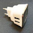 Incarcator 2 USB 2.4A la 220V cu Oprire Automata la Incarcare