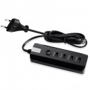 Incarcator USB Hub 4 Porturi USB 2.0 cu Buton ON/OFF 220V RNAI802