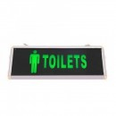 Indicator Luminos Toilets Barbat LED si Acumulator 355x145mm 1 Fata WT