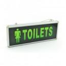Indicator Luminos Toilets Femei LED si Acumulator 355x145mm 1 Fata WT