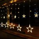 Instalatie Ghirlanda 12 Stele Luminoase Alb Cald  3x1m P FI MRL