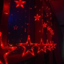 Instalatie Ghirlanda 12 Stele Luminoase LEDuri Rosii 3x1m P FI