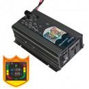 Invertor Auto 12V 500W cu Display LCD, Iesire USB si Priza