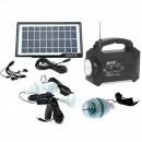 Kit Incarcator Urgente cu Panou Solar Lanterna Radio FM USB MP3 GD8051