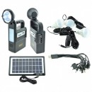 Kit Incarcator Urgente cu Panou Solar Lanterna Radio FM USB MP3 GD8133