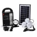 Kit Solar 20+1LED, Lanterna Frontala, USB, 3 Becuri, 4V GDPLUS GD8215