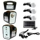Kit Solar cu Lampa U, Lanterna LED 1W, USB, 3 Becuri, 6V 4Ah GDLite3